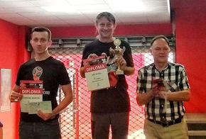 Podium Czech Open 2018. Marcin Chęsiak drugi.